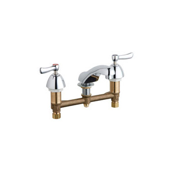 Chicago Faucets 404-VABCP Concealed Hot and Cold Water Sink Faucet