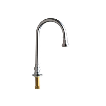 Chicago Faucets 626-GN2BE4ABCP Remote Rigid/Swing Gooseneck Spout - Chrome