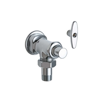 Chicago Faucets 698 Abcp Angle Stop Fitting With Loose Key Chrome