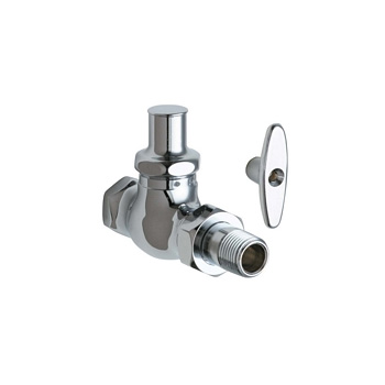 Chicago Faucets 699 Abcp Straight Stop Fitting With Loose Key Chrome