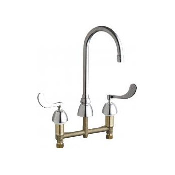 Chicago Faucets 786-E35ABCP Concealed Hot and Cold Water Sink Faucet - Chrome