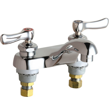 Chicago Faucets 802-VE66ABCP Hot and Cold Water Sink Faucet - Chrome