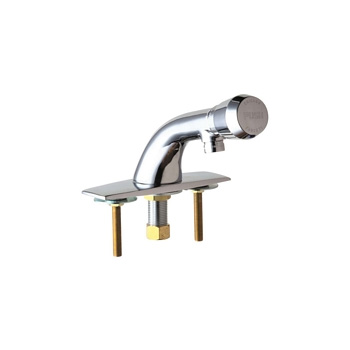 Chicago Faucets 857-E12V665PSHAB Single Supply Metering Sink Faucet - Chrome