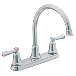 Cleveland Faucet Group CA41611 Capstone Two-Handle Hi-Arc Kitchen Faucet - Chrome
