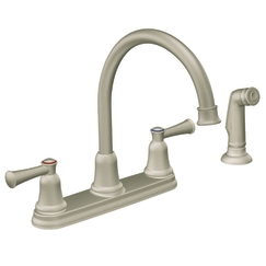 Cleveland Faucet Group CA41613SL Capstone Two-Handle High-Arc Kitchen Faucet with Spray - Stainless Steel
