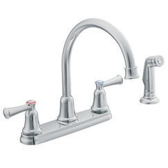 Cleveland Faucet Group CA41613 Capstone Two-Handle High Arc Kitchen Faucet with Spray - Chrome
