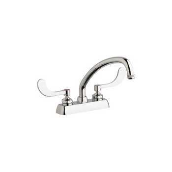 Chicago Faucets W4D-L9E1-317ABCP Hot and Cold Water Workboard Sink Faucet - Chrome
