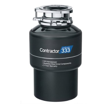 InSinkErator CNTR333-WC Contractor 333 3/4 HP Garbage Disposer With Cord