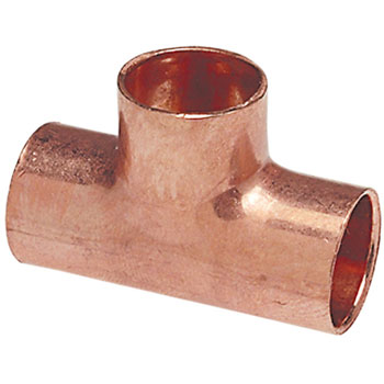 1 inch  X 1 inch  X 1/2 inch  Copper Reducing Tee