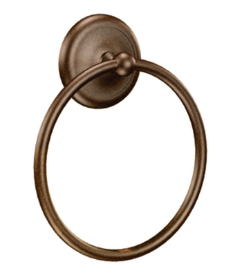 Moen BP5386OWB Creative Specialties Yorkshire Towel Ring - Old World Bronze