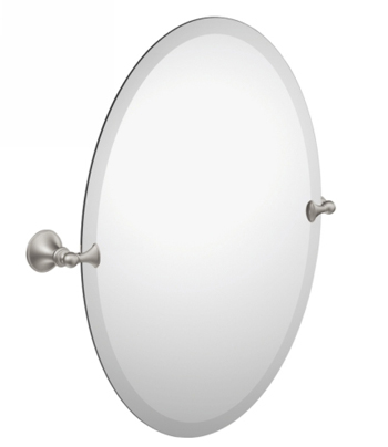 Moen DN2692BN Creative Specialties Glenshire Oval Tilting Mirror - Brushed Nickel