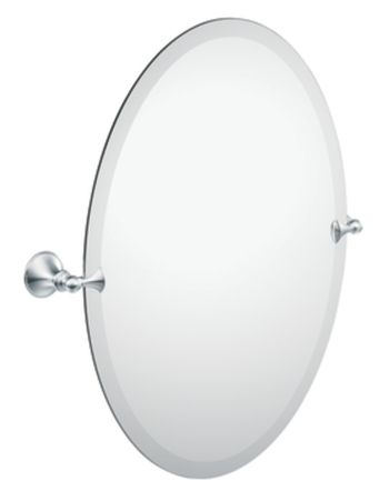 Moen DN2692CH Creative Specialties Glenshire Oval Tilting Mirror - Chrome