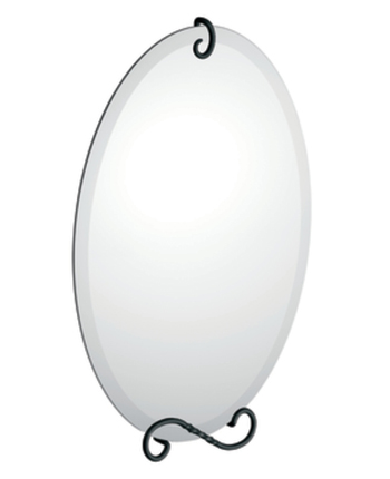Moen DN4992BK Creative Specialties Sienna Oval Mirror with Decorative Hardware - Black