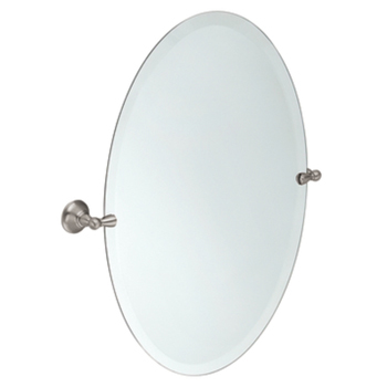 Moen DN6892BN Creative Specialties Sage Oval Tilting Mirror - Brushed Nickel