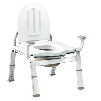Moen DN7016 Creative Specialties Home Care Premium Bedside Commode - Glacier