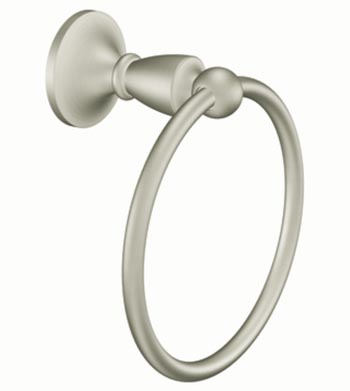 Moen DN8286BN Creative Specialties Wembley Towel Ring - Brushed Nickel