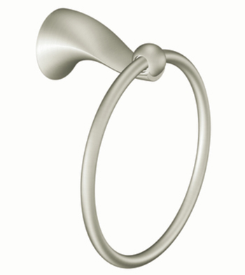 Moen DN8586BN Creative Specialties Cabrina Towel Ring - Brushed Nickel
