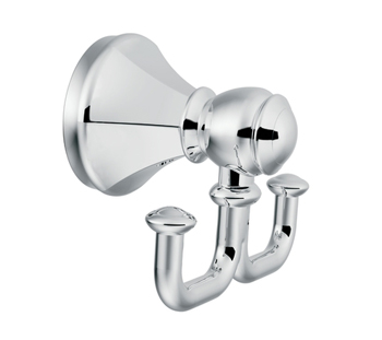 Moen YB5603CH Creative Specialties Vestige Double Robe Hook - Chrome