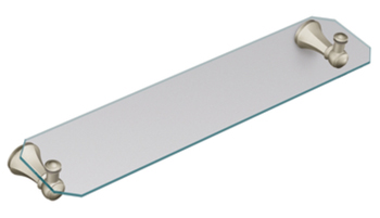 Moen YB5690BN Creative Specialties Vestige Glass Shelf - Brushed Nickel
