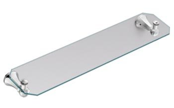Moen YB5690CH Creative Specialties Vestige Glass Shelf - Chrome