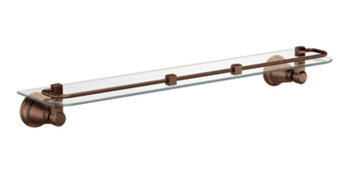 Moen YB8290ORB Creative Specialties Rothbury Glass Shelf - Oil Rubbed Bronze