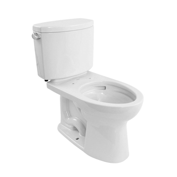 Toto CST454CEFG-01 Drake II 1.28 GPF Two-Piece Elongated Comfort Height Toilet - Cotton White