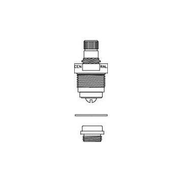 Central Brass K-453-H O-Ring Stem Repair Kit - Chrome