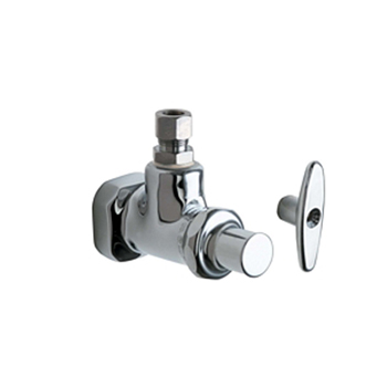 Chicago Faucets 1012 Abcp Angle Stop Fitting With Loose Key Chrome