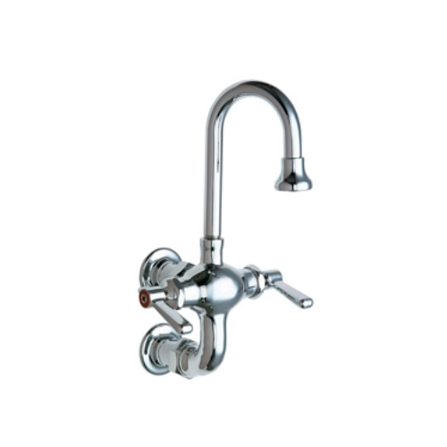 Chicago Faucets 225-261ABCP Hot and Cold Water Mixing Sink Faucet - Chrome