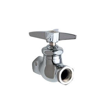 Chicago Faucets 45-ABCP Straight Stop Fitting - Chrome