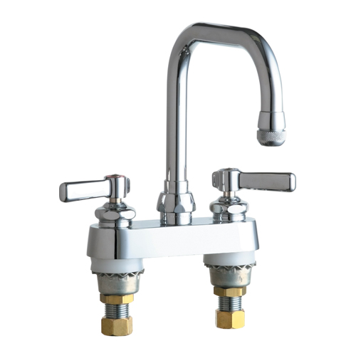 Chicago Faucets 526-ABCP Hot and Cold Water Sink Faucet - Chrome
