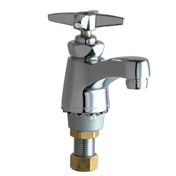 Chicago Faucets 701-COLDABCP Single Supply Cold Water Sink Faucet - Chrome