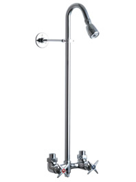 Chicago Faucets 752-CP Explosed Two Handle Shower Kit - Chrome