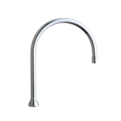 Chicago Faucets GN8AE35JKABCP 8 in Rigid / Swing Gooseneck Spout - Chrome