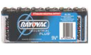 Christy's AL-9V Alkaline Battery 9V size 6-pack Industrial