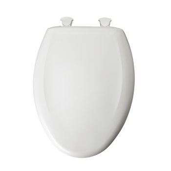 Bemis 1200SLOWT.020 Elongated Closed Front Toilet Seat with Cover - Crane White