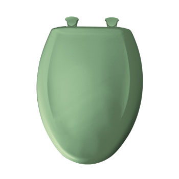 Bemis 1200SLOWT.025 Elongated Closed Front Toilet Seat with Cover - Jade