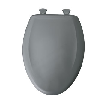 Bemis 1200SLOWT.302 Elongated Closed Front Toilet Seat with Cover - Classic Grey