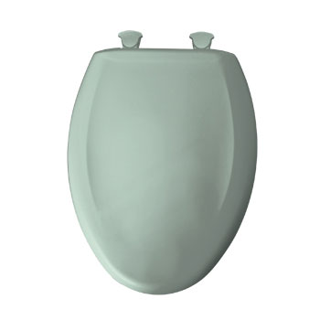 Bemis 1200SLOWT.455 Elongated Closed Front Toilet Seat with Cover - Seafoam