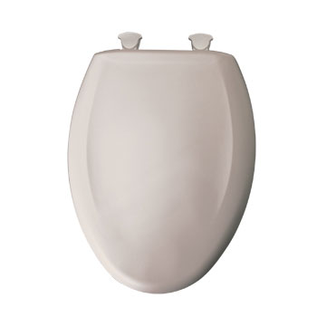 Bemis 1200SLOWT.463 Elongated Closed Front Toilet Seat with Cover - Heather