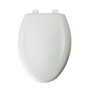 Bemis 1200TCA.000 Elongated Closed Front Plastic Toilet Seat with Cover - White