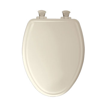 Church 1600E2.346 Elongated Molded Wood Toilet Seat with Cover - Biscuit