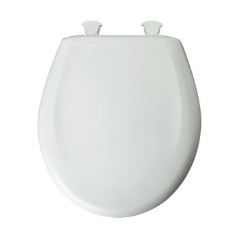 Bemis 200SLOWT.020 Round Closed Front Toilet Seat with Cover - Crane White