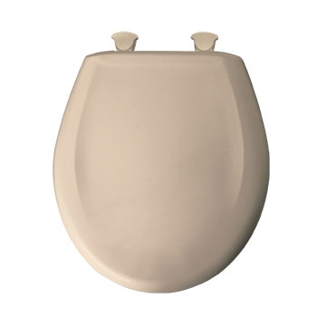 Bemis 200SLOWT.078 Round Closed Front Toilet Seat with Cover - Beige