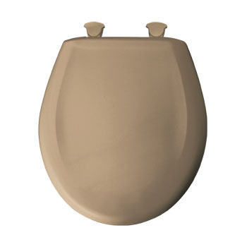 Bemis 200SLOWT.148 Round Closed Front Toilet Seat with Cover - Sand
