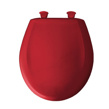 Bemis 200SLOWT.153 Round Closed Front Toilet Seat with Cover - Red