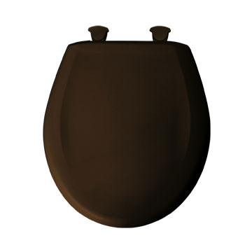 Bemis 200SLOWT.168 Round Closed Front Toilet Seat with Cover - Americana Brown