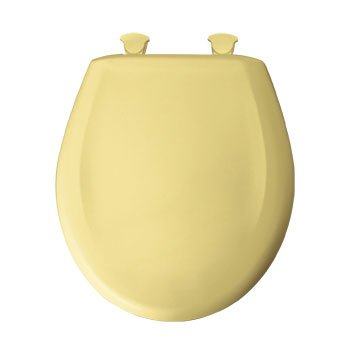 Church 200SLOWT.211 Round Closed Front Toilet Seat with Cover - Yellow