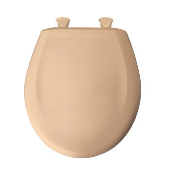 Church 200SLOWT.213 Round Closed Front Toilet Seat with Cover - Peach Bisque