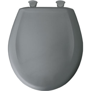 Bemis 200SLOWT.302 Round Closed Front Toilet Seat with Cover - Classic Grey